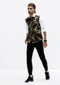Camo Facade Long Sleeve Shirt - White