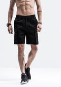 Cargo Pockets Drawstring Shorts - Black
