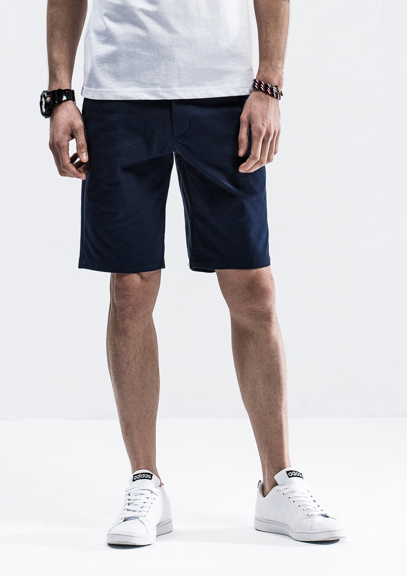 Front Tab Detail Shorts - Blue