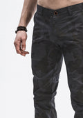 Geometric Camo Jogger Pants - Shadow Gray
