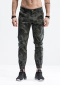 Geometric Camo Jogger Pants - Shadow Green