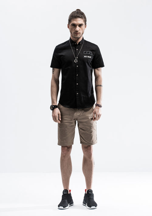 No War Short Sleeve Shirt - Black