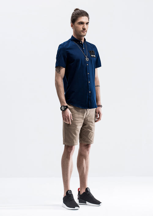 No War Short Sleeve Shirt - Blue