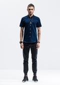 Pocket Short Sleeve Shirt - Blue