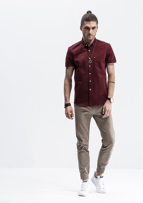 Pocket Short Sleeve Shirt - Red