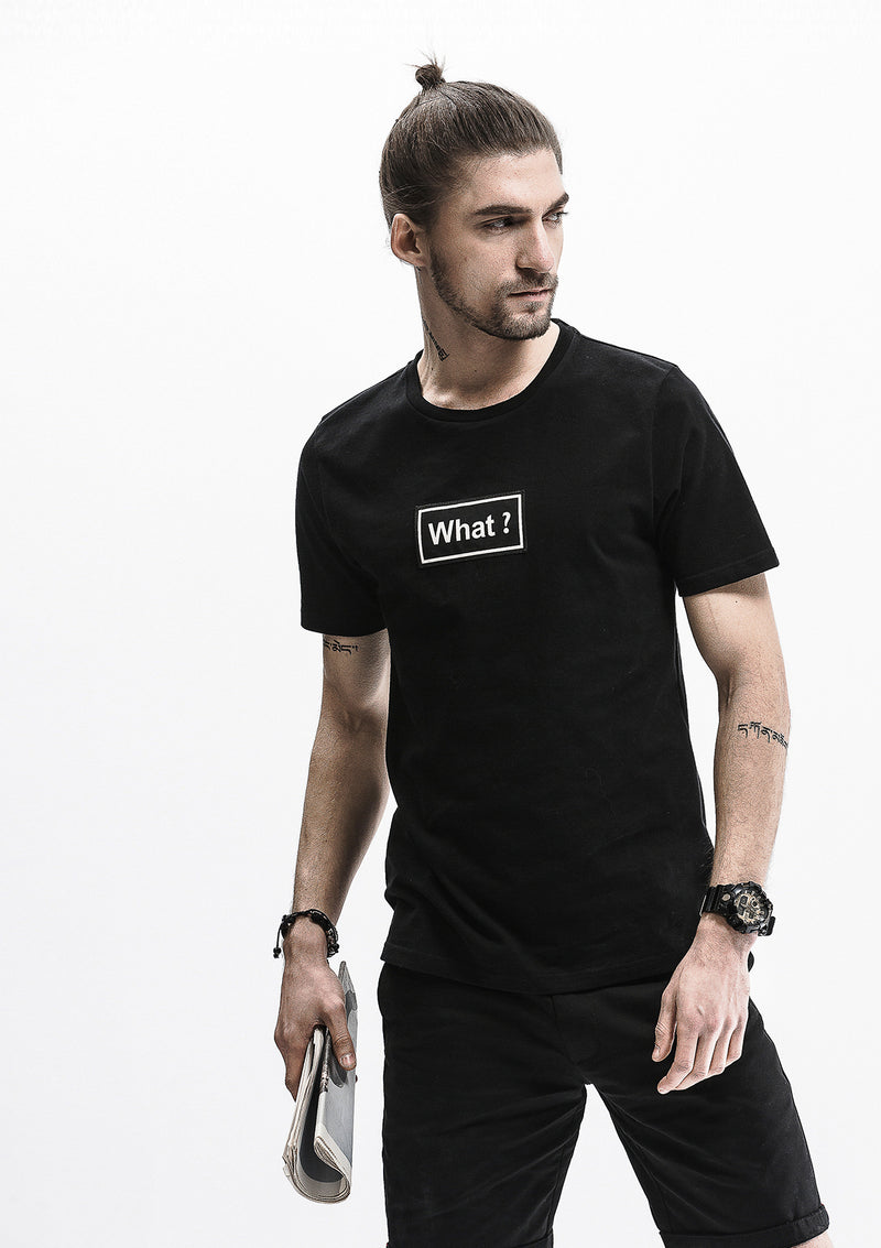 Say What? T-Shirt - Black