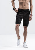 Washed Strokes Shorts - Black