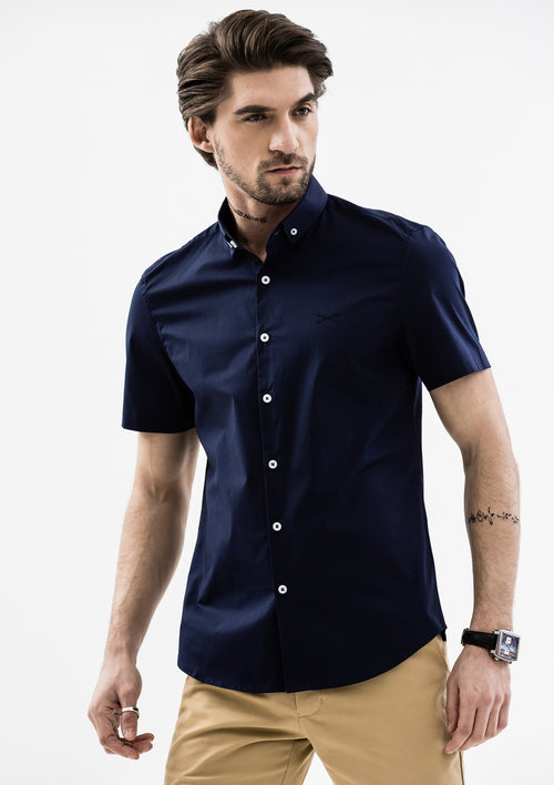 Explorer Collared Short Sleeve Shirt - Blue