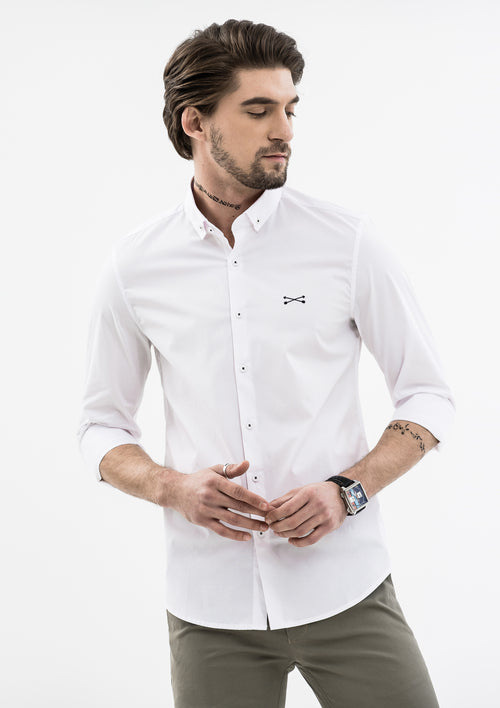 Explorer Collared Long Sleeve Shirt - White