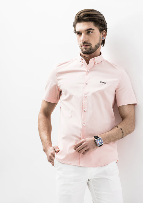 Explorer Collared Short Sleeve Shirt - Pink