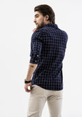 Half Button Down Linen Shirt - Blue