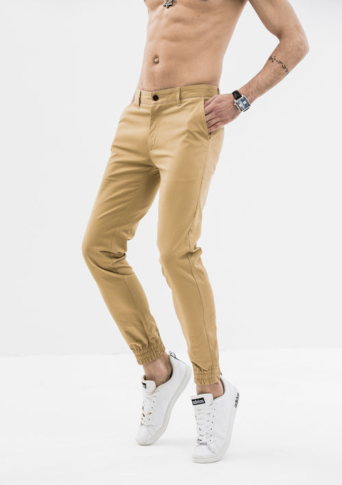 Zeus Stretched Jogger Pants - Khaki
