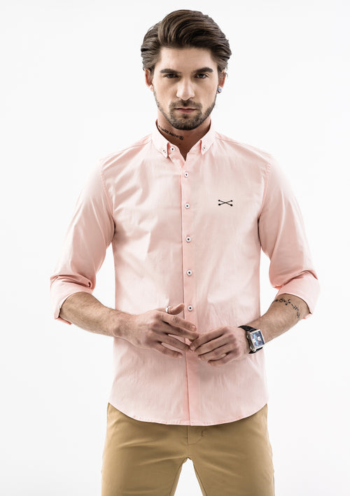 Explorer Collared Long Sleeve Shirt - Pink