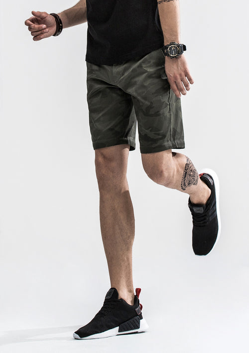 Camo Shorts - Dark Green