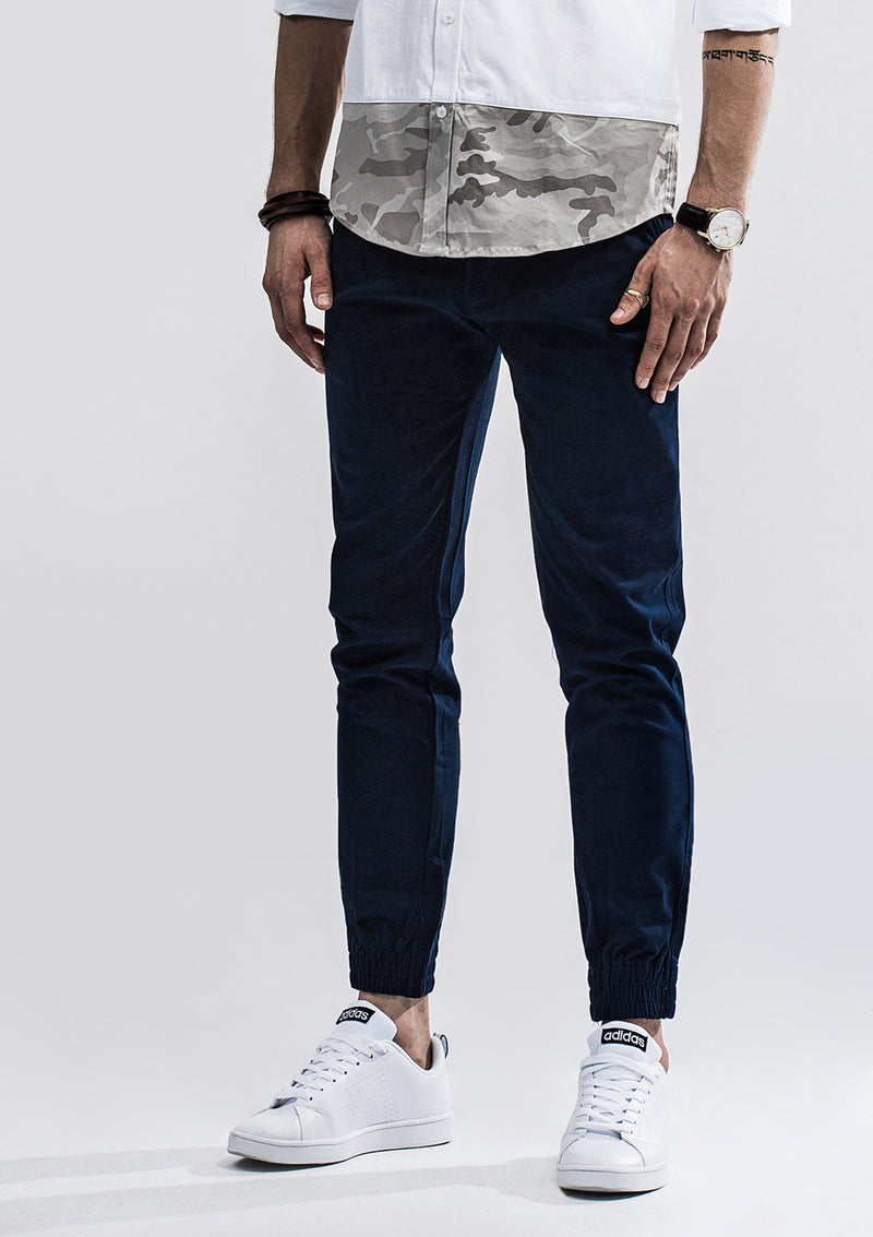 Zeus Stretched Jogger Pants - Navy