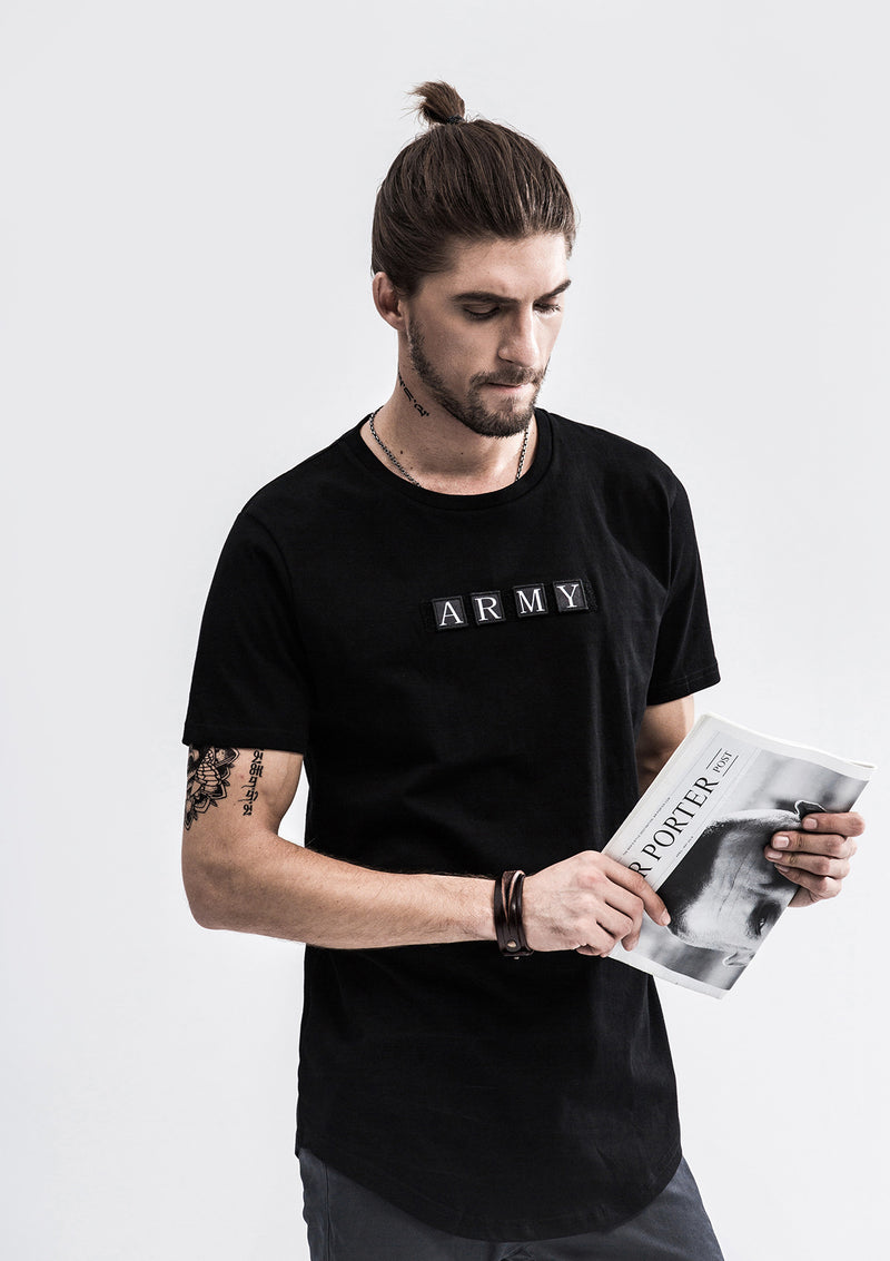Curved T-Shirt - Black