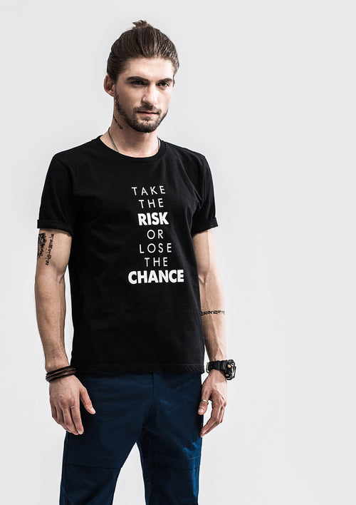 Risk or Chance T-Shirt - Black