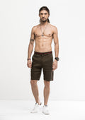 Grosgrain Bowed Linen Shorts - Green