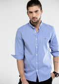 Classic 3 Quarter Checkered Shirt - Light Blue