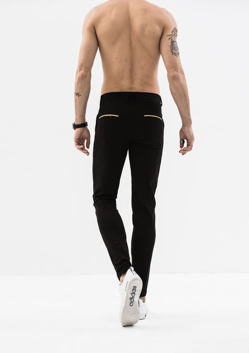 Skinny Chino Pants - Black