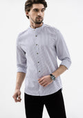 Pinstripe Long Sleeve Shirts - White
