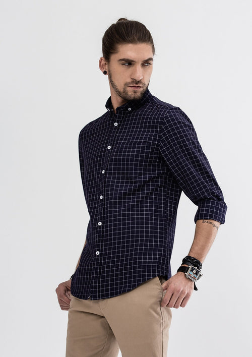 Eric Long Sleeve Shirt - Blue
