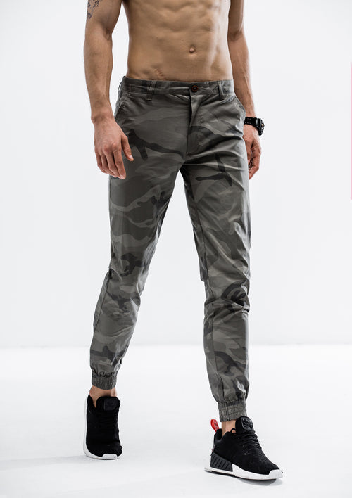 Jungle Camo Jogger Pants - Stealth Gray