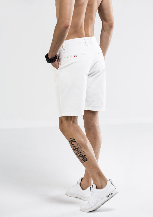 Side Details Shorts - White