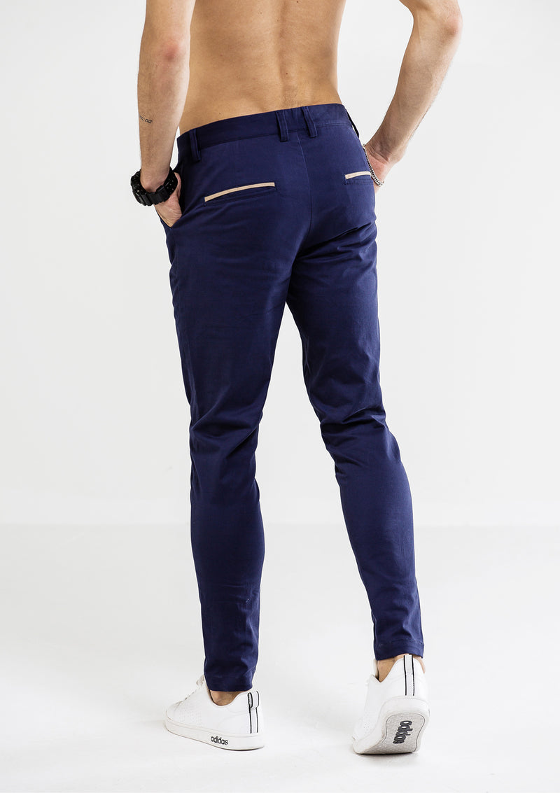Skinny Chino Pants - Blue