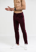 Skinny Chino Pants - Wine Maroon