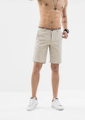 Striped Grosgrain Shorts - Beige