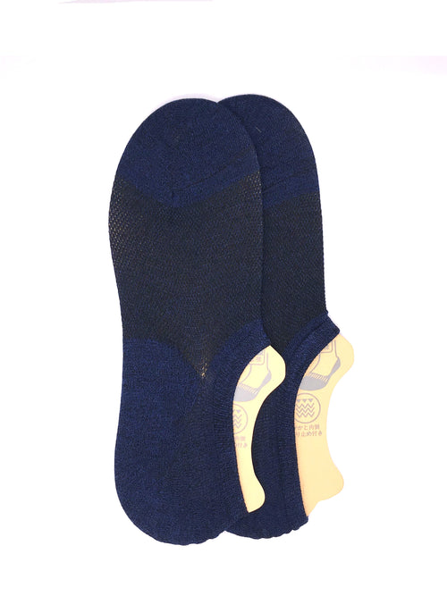 Invisible Two-tone Socks - Blue