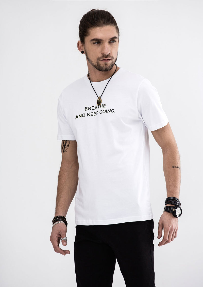 Breathe  And Keep Going T-Shirt - White