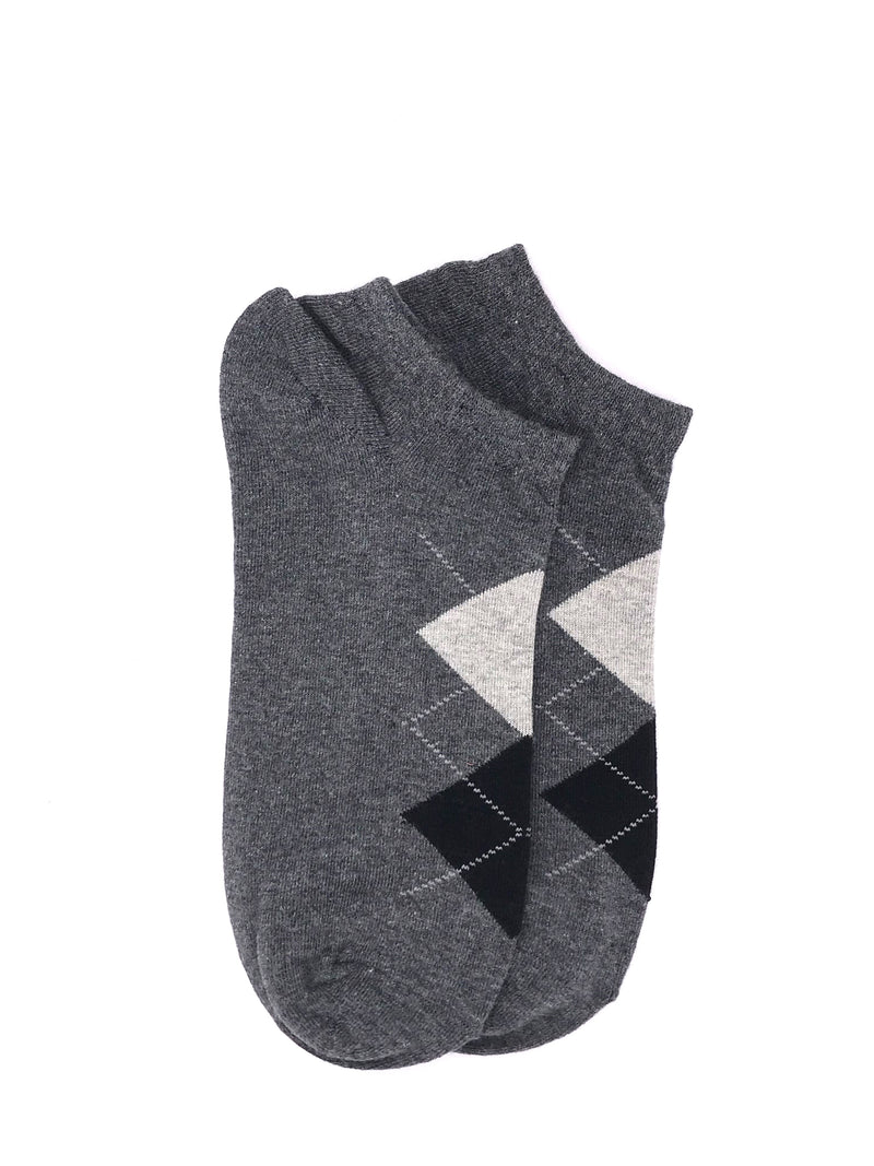 Ankle Geometric Socks - Gray
