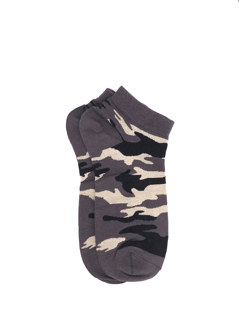 Ankle Camou Socks - Gray