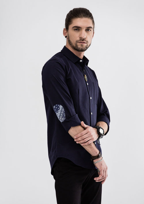 Elijah Long Sleeve Shirt - Blue