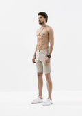Side Details Shorts - Beige