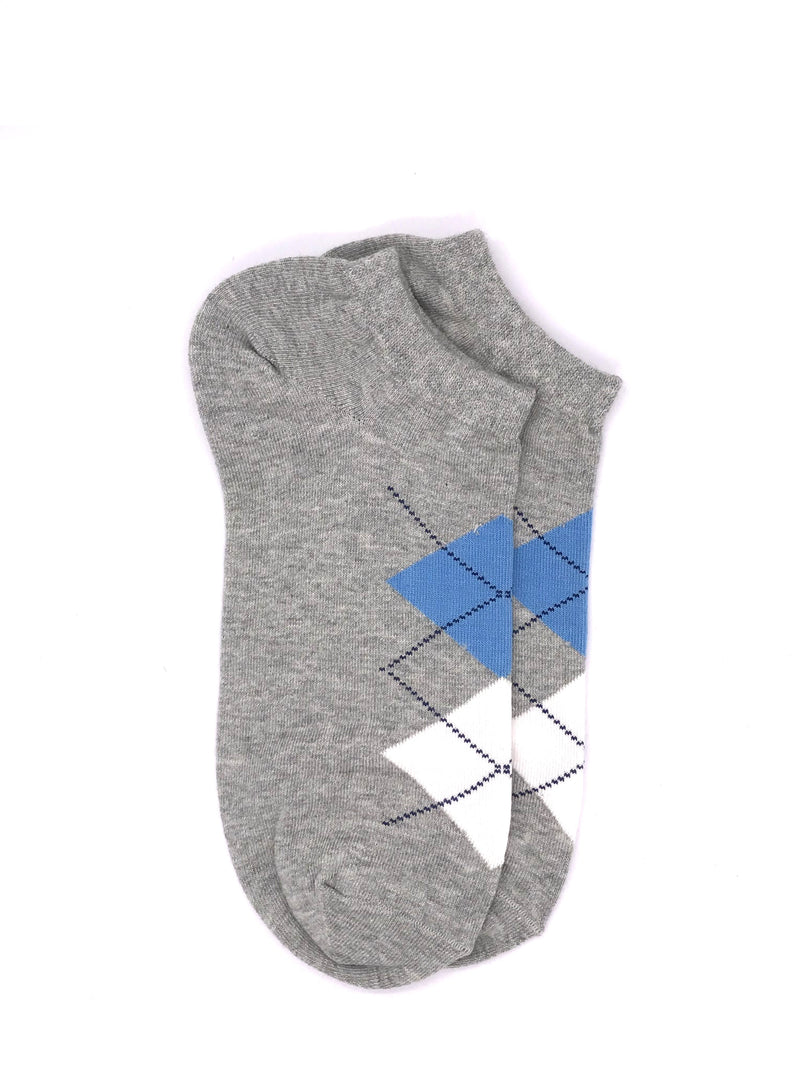Ankle Geometric Socks - Heather