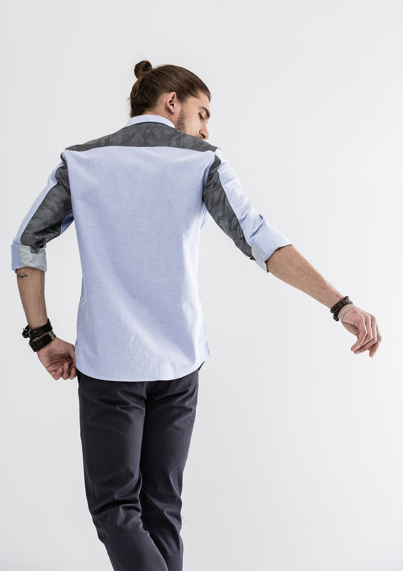 Lucas Long Sleeve Shirt - Blue