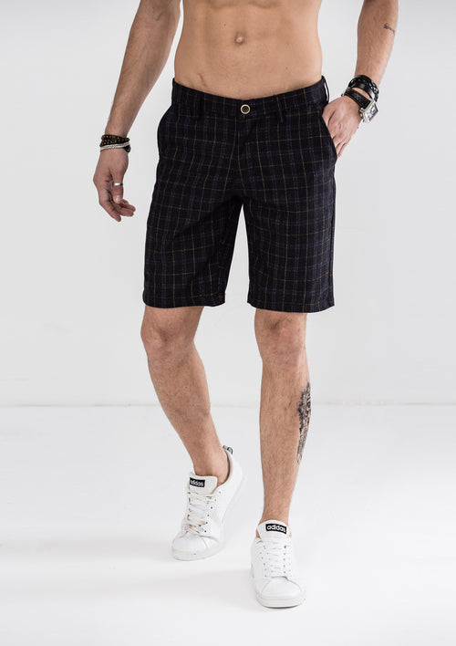 Plaid Checked Shorts - Black