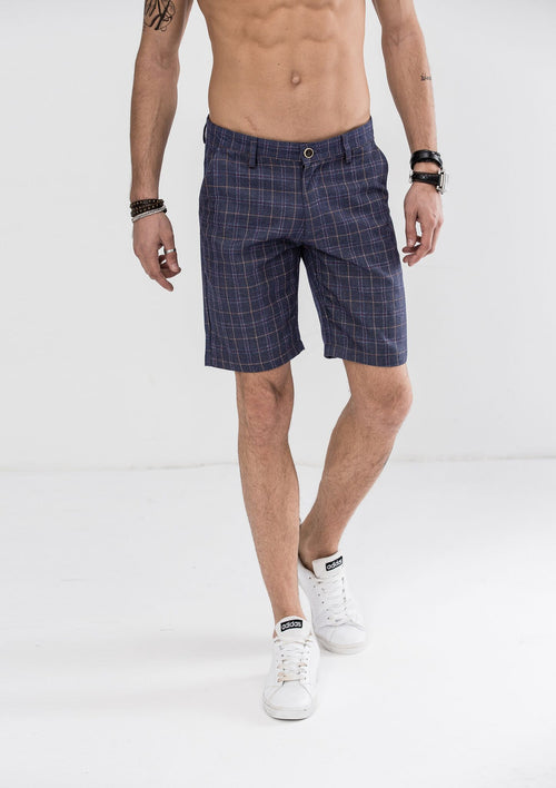 Plaid Checked Shorts - Blue