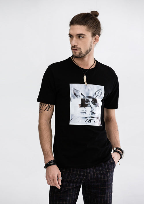 Rabbit Girl T-Shirt - Black