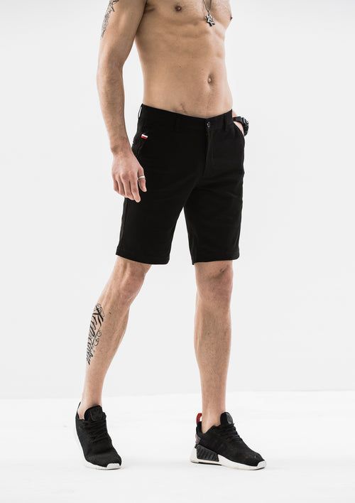 Side Details Shorts - Black