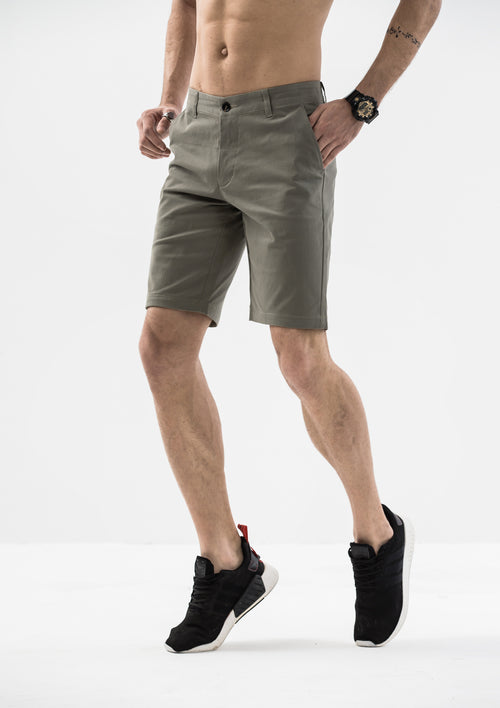Side Details Shorts - Gray