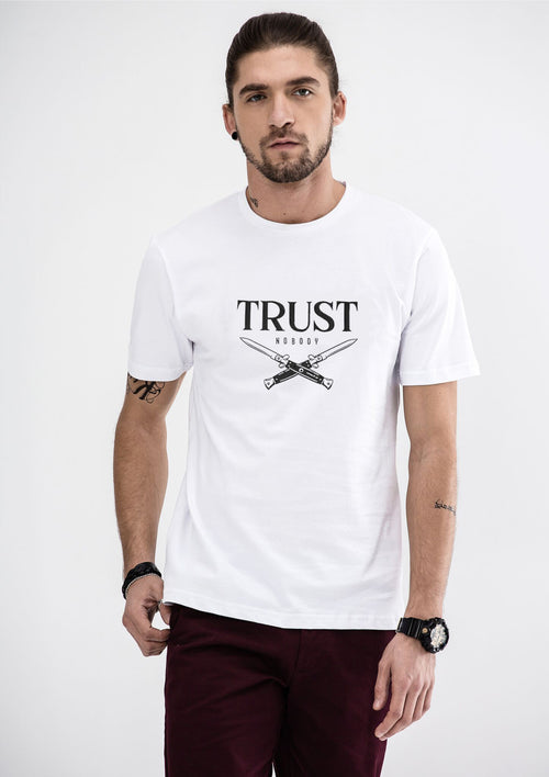 Trust Nobody T-Shirt - White
