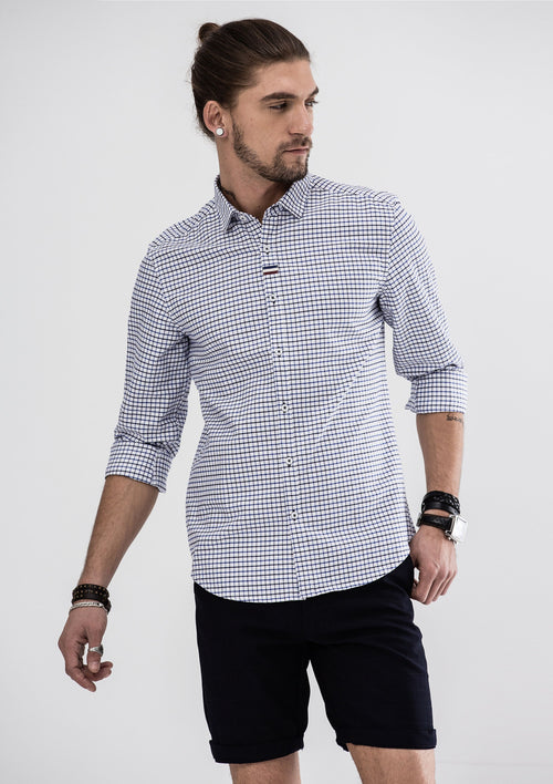 Steve Long Sleeve Shirt - Blue