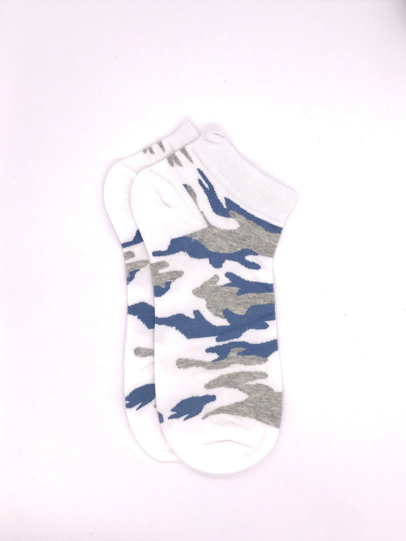 Ankle Camou Socks - White