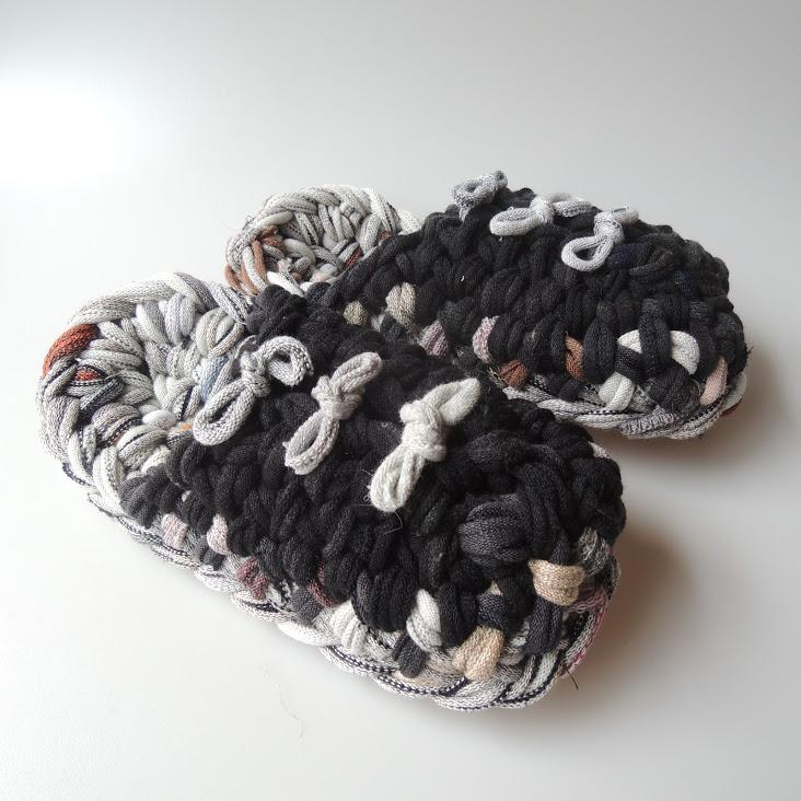 Knit upcycle slippers #17-2019 - Heiwa Slipper