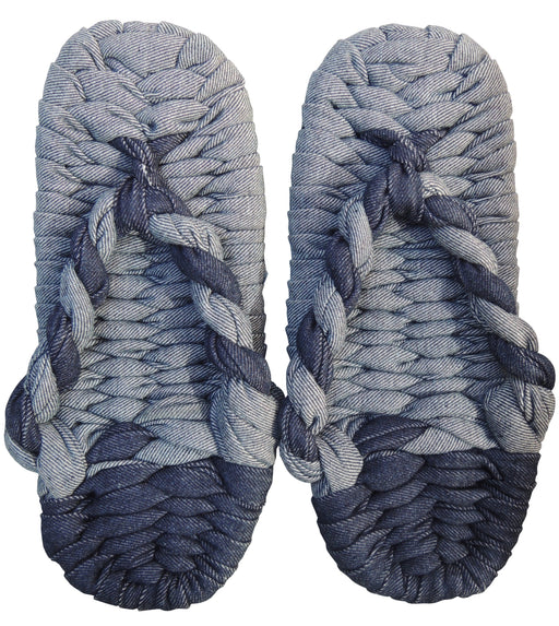 Denim Mix  Zouri Cotton Woven Slippers - Heiwa Slipper