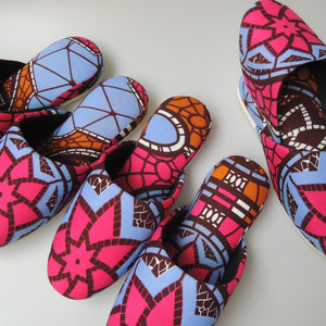 Medium [25cm] : Batik Mix Slippers (Ninja-RE Spider#3)  HM - Heiwa Slipper